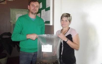 Agricultores retiraram 15000 alevinos na Secretaria de Agricultura de Crissiumal nesta quarta-feira