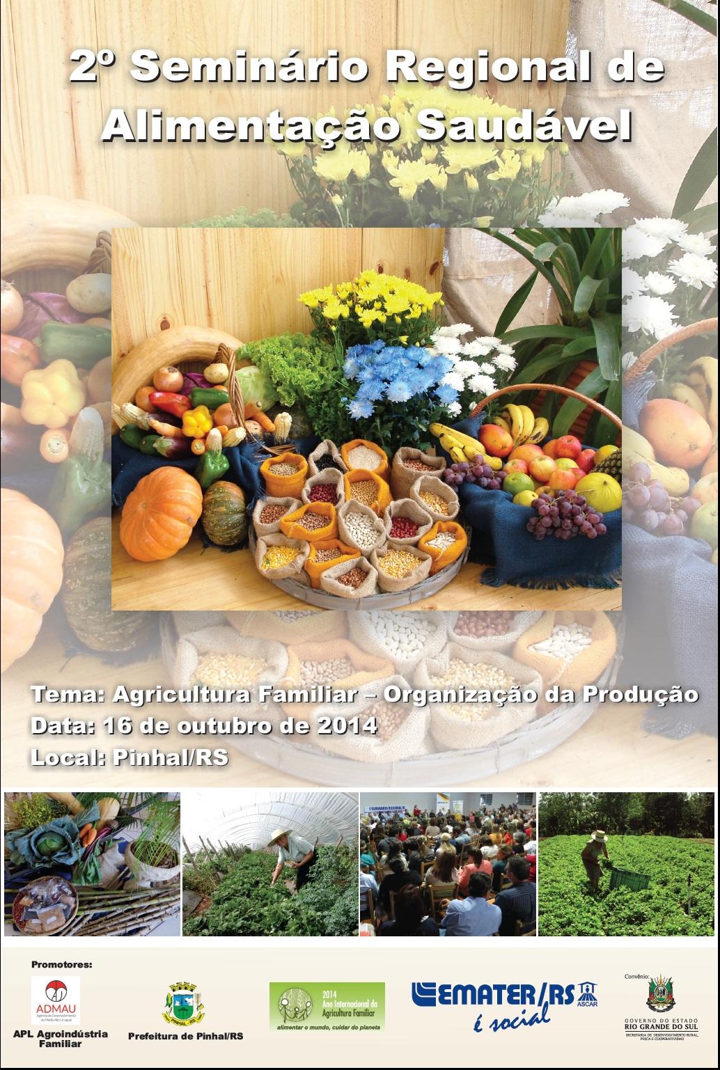 II Seminário Regional de Alimentação Saudável – Agricultura Familiar – Organização da Produção para Comercialização-Agência de Desenvolvimento do Médio Alto Uruguai – ADMAU