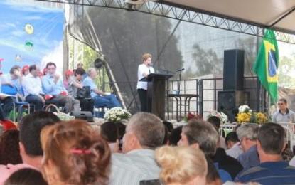 Em evento do RS, Dilma assume compromisso com a agroindustrialização e Minha Casa Minha Vida Rural