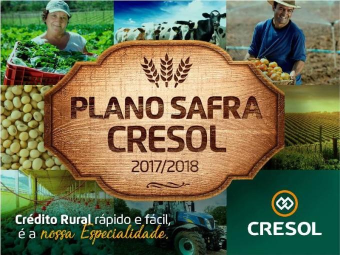 Cresol Sicoper abre contratações do Plano Safra 2017/2018