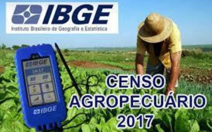 Censo Agro 2017, equipes de recenseadores iniciaram visitas nas propriedades rurais em toda a região.