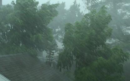 Ciclone extratropical traz chuva, granizo e rajadas de vento