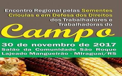 Seminário Regional das sementes Crioulas em Miraguaí