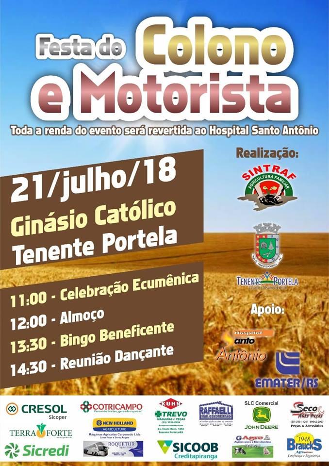 Festa do Colono e Motorista em Tenente Portela
