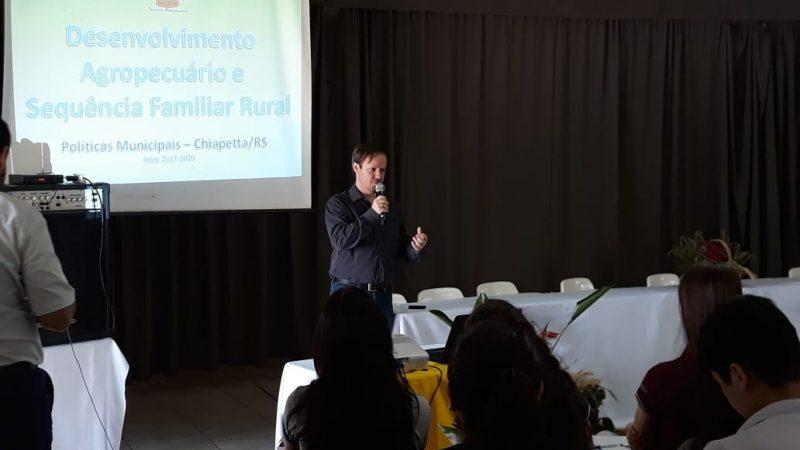 Prefeito de Chiapetta apresenta Políticas de Incentivo à Produção Alimentar