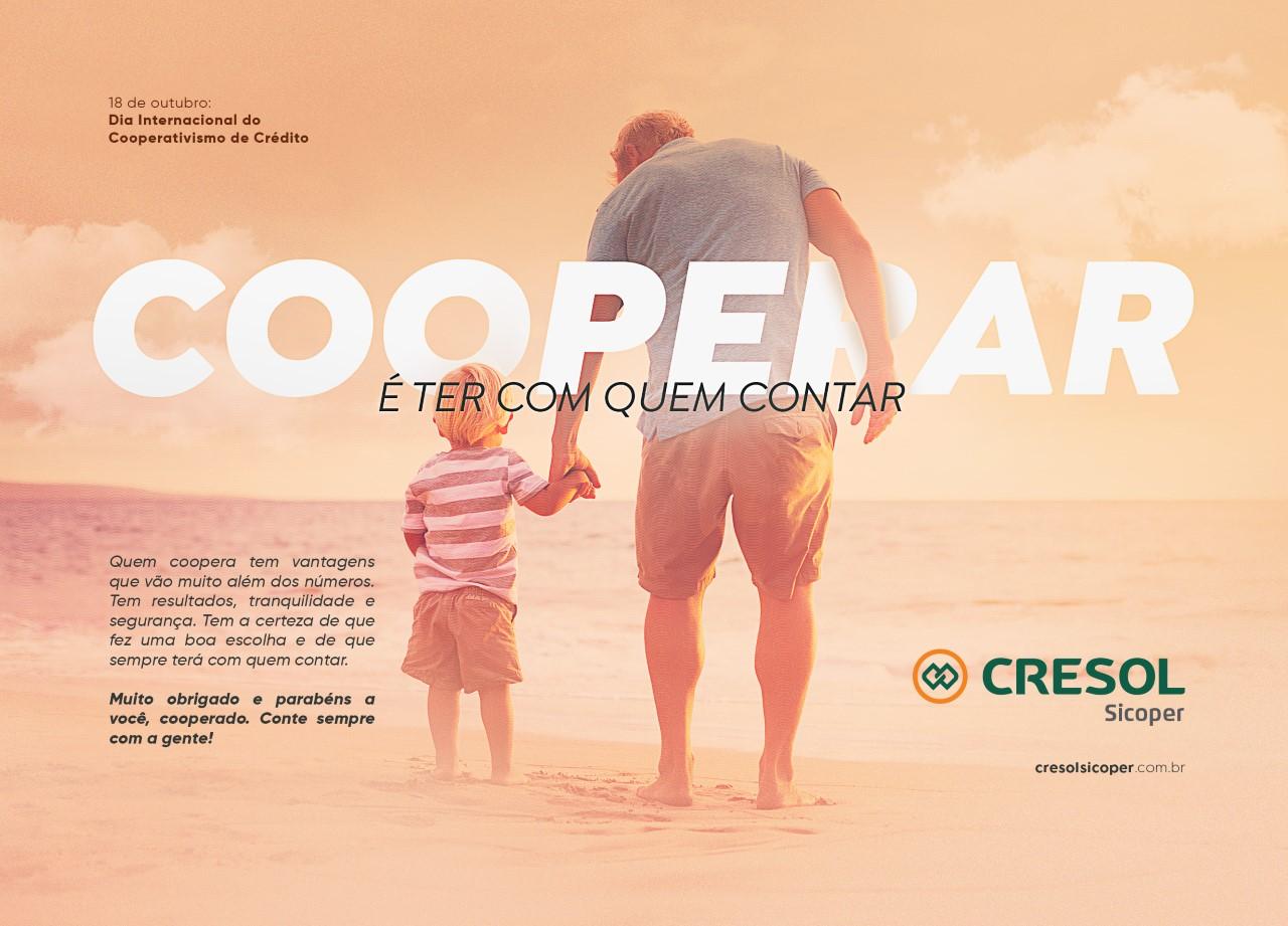 No dia 18 a Cresol ira Comemorar com seus Associados o Dia Internacional do Cooperativismo de Crédito