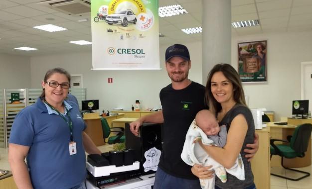 2° Sorteio da Campanha Sonho de  Prêmios Cresol, ganhador de Humaitá-RS