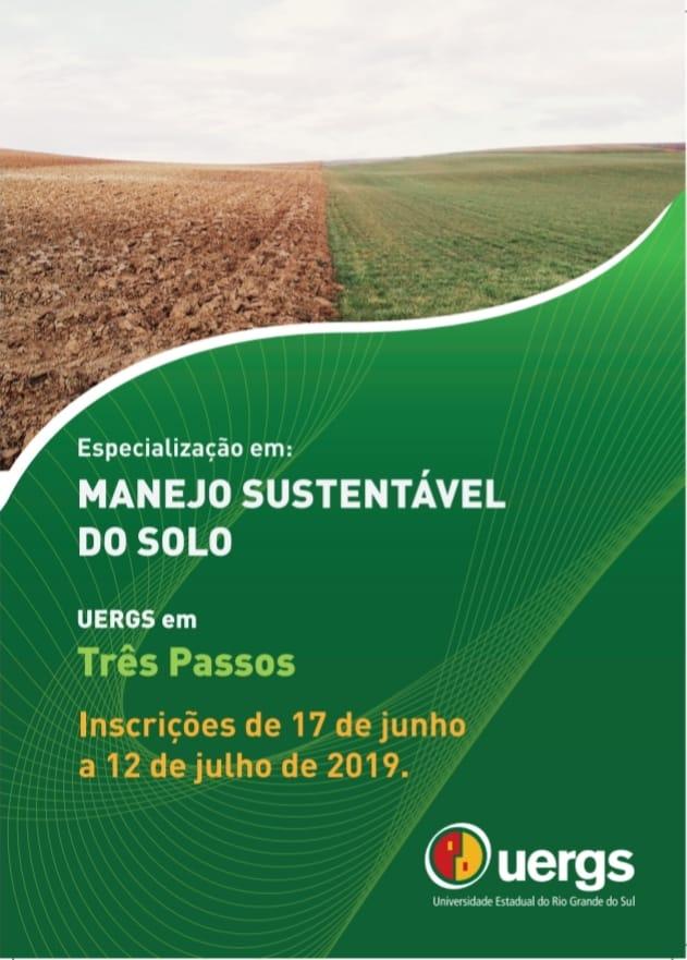 Especialização em Manejo Sustentável do Solo