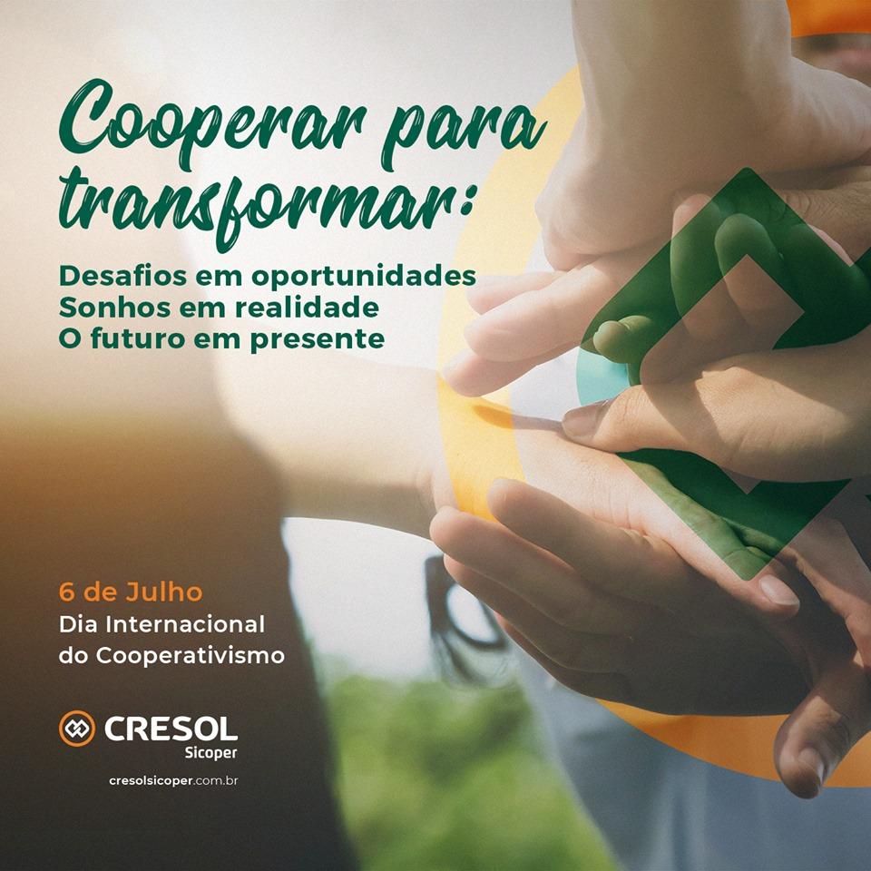6 de julho é Dia Internacional do Cooperativismo